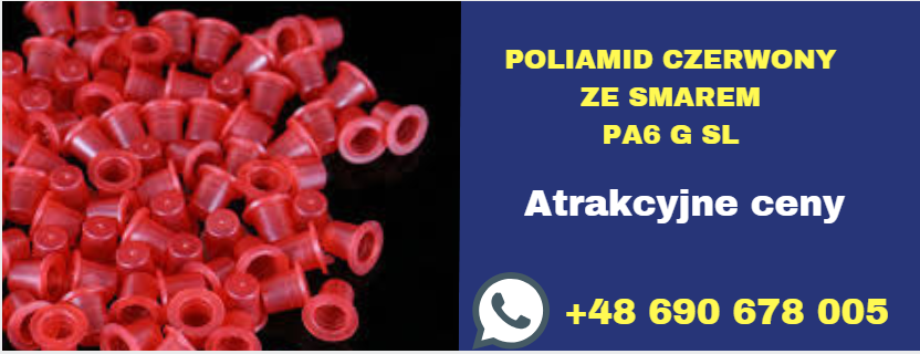 poliamid czerwony ze smarem pa6 g sl